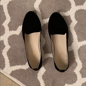 EUC black suede loafers (Size 7)